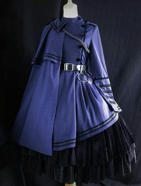 military lolita-cape